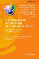 Governance and Sustainability in Information Systems  Managing the Transfer and Diffusion of IT
