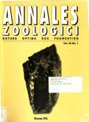 Annales Zoologici Book PDF