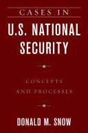 Cases in U.S. National Security Pdf/ePub eBook