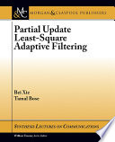 Partial Update Least Square Adaptive Filtering Book PDF
