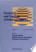 Geometry and Topology of Submanifolds  VI