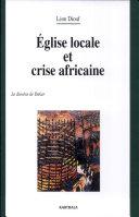 Pdf Eglise locale et crise africaine Telecharger