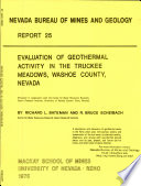 R025: Evaluation of geothermal activity in the Truckee Meadows, Washoe County, Nevada
