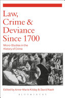 Pdf Law, Crime and Deviance since 1700