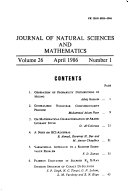 Journal Of Natural Sciences And Mathematics