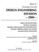 Proceedings Of The Asme Design Engineering Division  Book PDF
