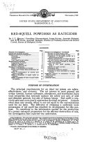 Red-squill Powders as Raticides