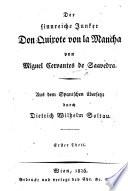 Der sinnreiche Junker Don Quixote von la Mancha ... Aus dem Spanischen übersetzt durch D. W. Soltau