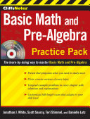 CliffsNotes Basic Math and Pre-Algebra Practice Pack