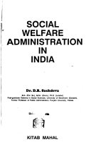 Social Welfare Administration in India