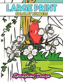 Large Print Adult Coloring Book Color by Number