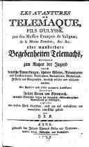 Les Avantures De Telemaque, Fils D'Ulysse, par feu Messire François de Salignac, de la Motte Fenelon, &c. &c