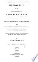 """""""Historical and Biographical Works: Memorials of Thomas Cranmer. 1840"""" by John Strype"""