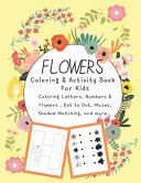 Flowers Coloring Activity Book For Kids