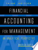 Financial Accounting for Management Book