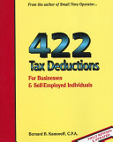 422 Tax Deductions for Businesses and Self Employed Individuals Book