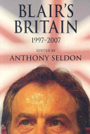 Blair s Britain  1997 2007