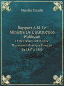 Rapport ? M. Le Ministre De L'instruction Publique Pdf/ePub eBook