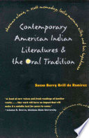 Contemporary American Indian Literatures & the Oral Tradition