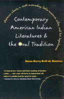 Contemporary American Indian Literatures   the Oral Tradition
