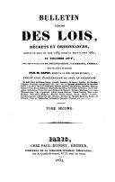 Bulletin annoté des lois, décrets et ordonnances