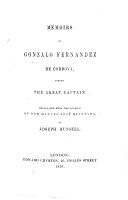 Memoirs of G. Fernandez de Cordova, styled the great Captain. Translated from the Spanish ... by J. Russell
