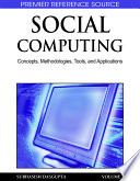Social Computing  Concepts  Methodologies  Tools  and Applications Book