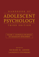 Handbook Of Adolescent Psychology  Volume 1