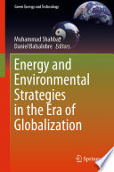 Energy and Environmental Strategies in the Era of Globalization