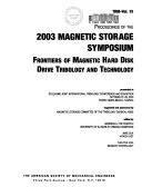 Frontiers of Magnetic Hard Disk Drive Tribology and Technology