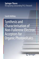 Synthesis and Characterisation of Non Fullerene Electron Acceptors for Organic Photovoltaics