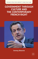 Pdf Government through Culture and the Contemporary French Right Telecharger