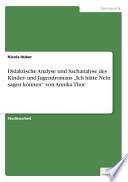Didaktische Analyse und Sachanalyse des Kinder- und Jugendromans