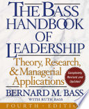The Bass Handbook Of Leadership Book PDF