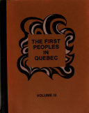 The First Peoples in Quebec Book PDF