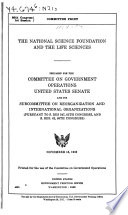 The National Science Foundation and the Life Sciences