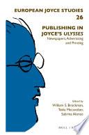 Publishing In Joyce S Ulysses