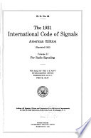 The 1931 International Code of Signals