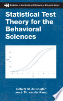 Statistical Test Theory for the Behavioral Sciences Book