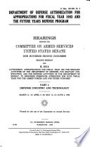 Department Of Defense Authorization For Appropriations For Fiscal Year 1993 And The Future Years Defense Program Defense Industry And Technology