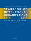 Yearbook Of International Organizations 2015 2016 Volume 5