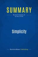 Summary  Simplicity