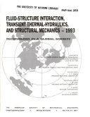 Fluid structure Interaction  Transient Thermal hydraulics  and Structural Mechanics  1993