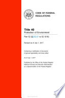 2017 CFR Annual Print Title 40 Protection of Environment   Part 52   52 01 to 52 1018