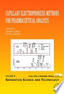 Capillary Electrophoresis Methods for Pharmaceutical Analysis Book