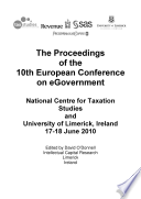 ECEG2010 Proceedings of the 10th European Conference on E Government Book