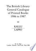 The British Library General Catalogue of Printed Books, 1986 to 1987