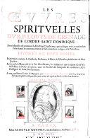 Les oeuvres spirituelles du ... divisées in quatre parties ...