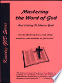 Mastering The Word Of God And Letting It Master You  Book PDF