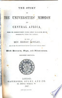 The Story of the Universities  Mission to Central Africa Book